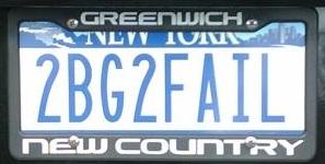 2 B G 2 FAIL License Plate