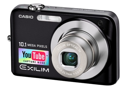 Casio camera with 'YouTube Capture Mode' sticker