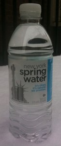 New York Spring Water bottle