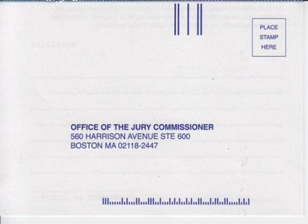 Jury Duty Card