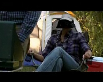 Camping and using the As Seen On TV Hat