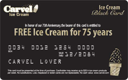 Carvel's sample Black Card