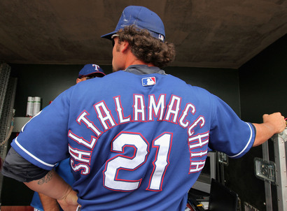 Jarrod Saltalamacchia's ridiculous jersey