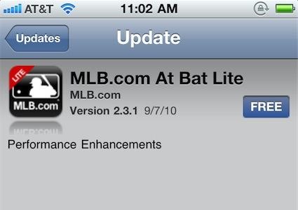 MLB At Bat Update Image