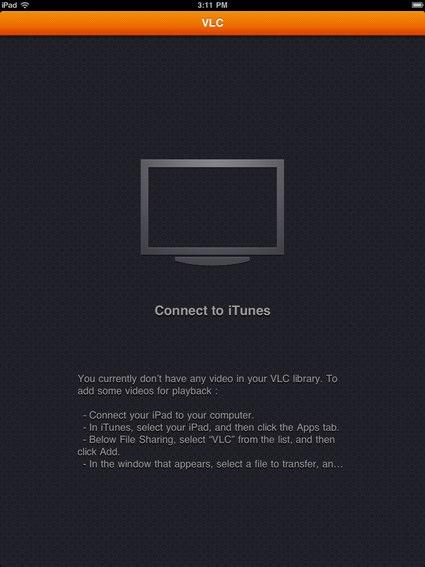 VLC's Startup Screen in Portrait
