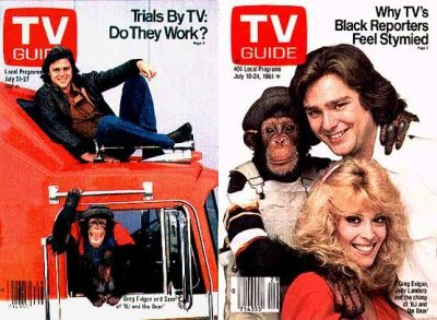 BJ and the Bear on two TV Guide covers