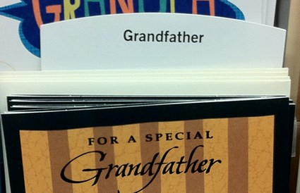 Happy Father's Day to my Grandfather Card