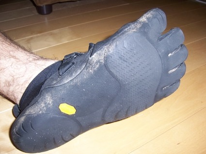 Vibram FiveFingers on my foot