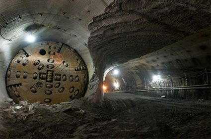 Entombed Tunnel Boring Machine