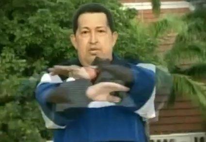 Hugo Chavez, Sweatin'