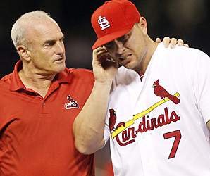 Matt Holliday with a moth in his ear.