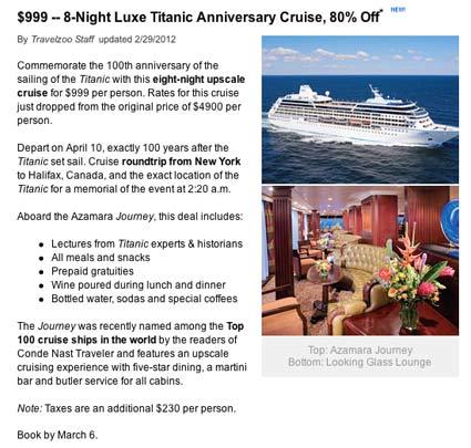 Titanic Anniversary Cruise