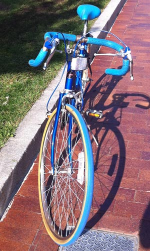 The Blue Bike from the front
