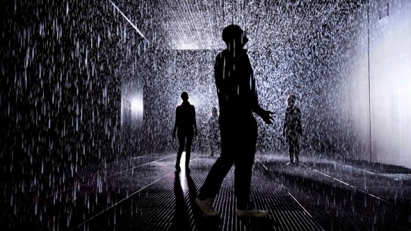 Rain Room in action