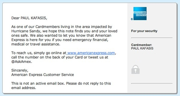 American Express email