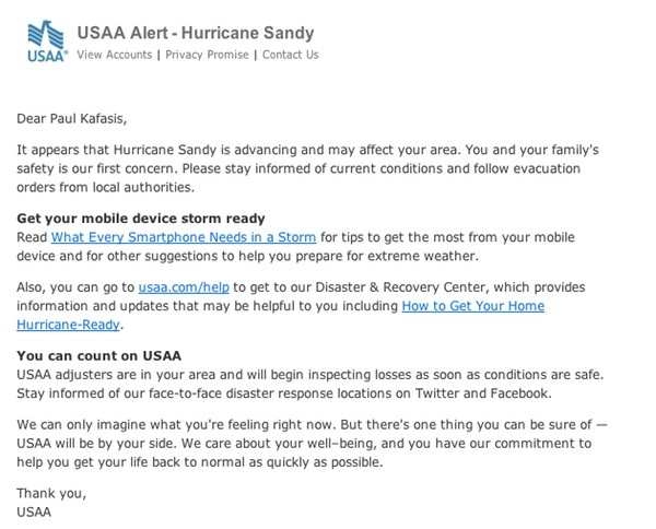 USAA Email