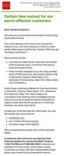 Wells Fargo Email