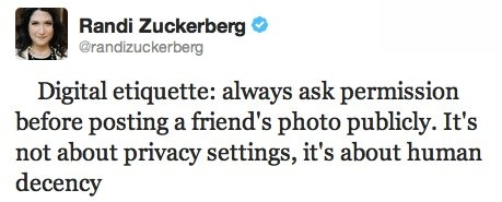 Randi Zuckerberg's Tweet