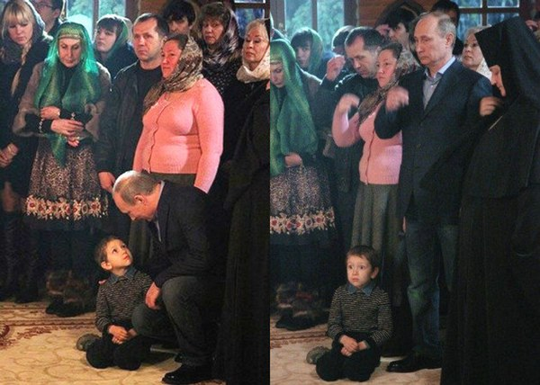 Putin Terrifies A Small Boy
