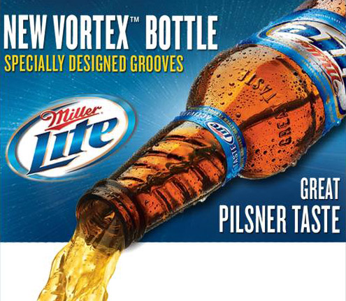 Miller Lite's Vortex Bottle