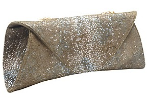 The Romy Gold Stingray Rose Evening Clutch
