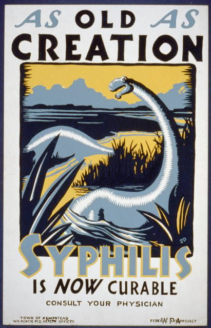 An anti-syphilis poster