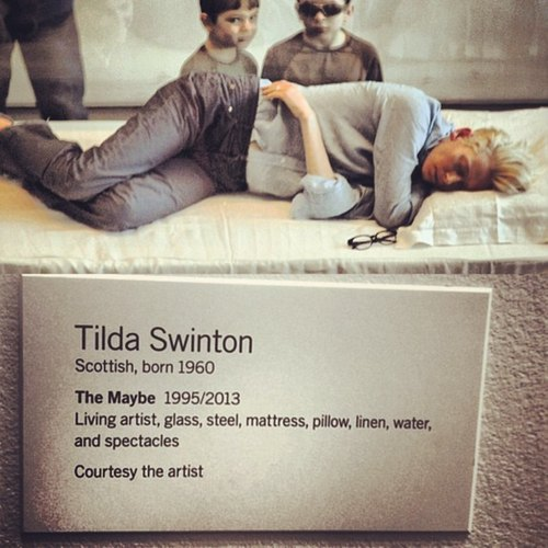 Tilda Swinton Sleeping