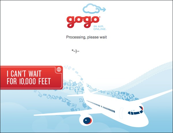 GoGo Ad - I can't wait for 10,000 feet.