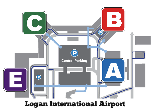 BOS Airport Map