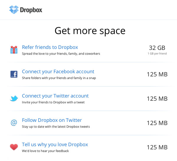 Dropbox's Indulgances