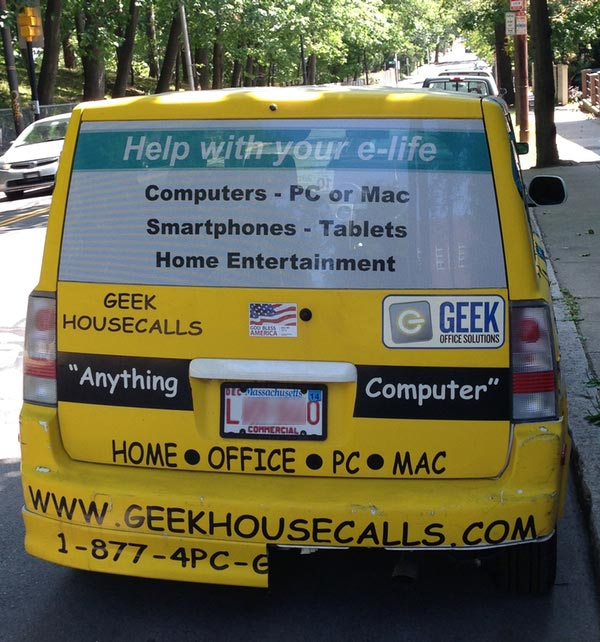 Geek Housecalls Car
