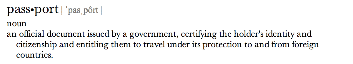 Passport Definition