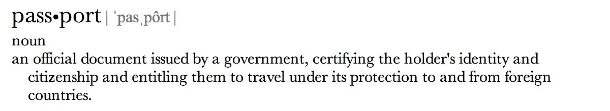 Passport Definition