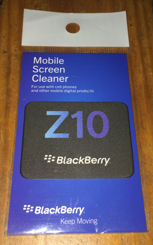 BlackBerry's Limited Edition Screen Cleaner