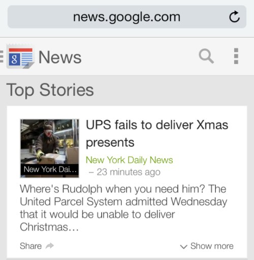 UPS fails to deliver Xmas presents