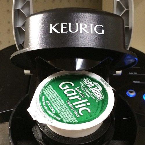 Special Garlic Dipping Sauce in a Keurig