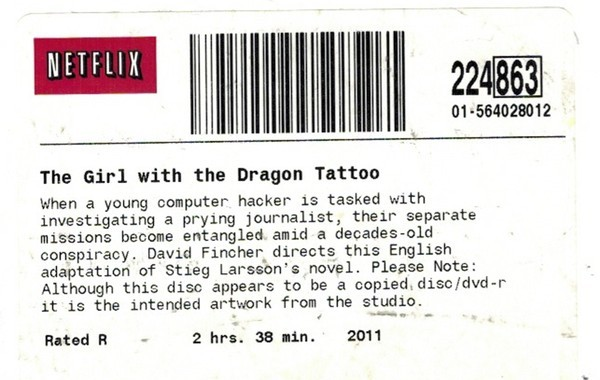 The DVD's Label