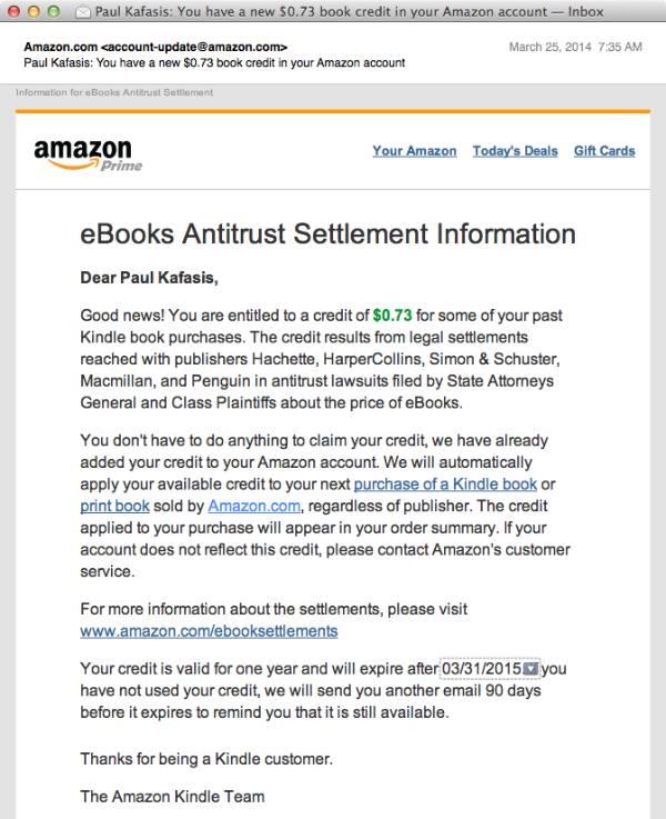 Amazon Settlement