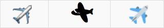 Assorted Airplane Emoji