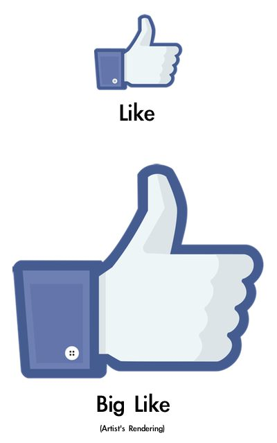Facebook Like vs. Big Like