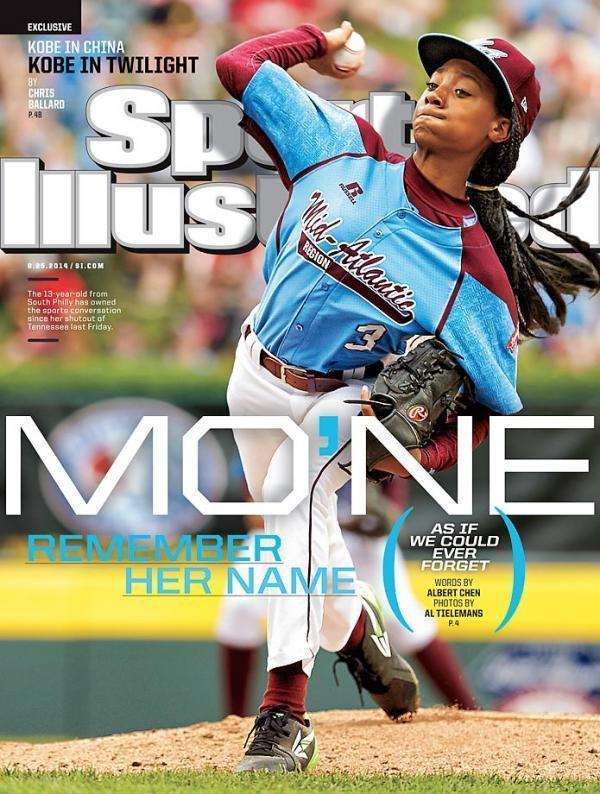Mo'ne on the cover of Sports Illustrated