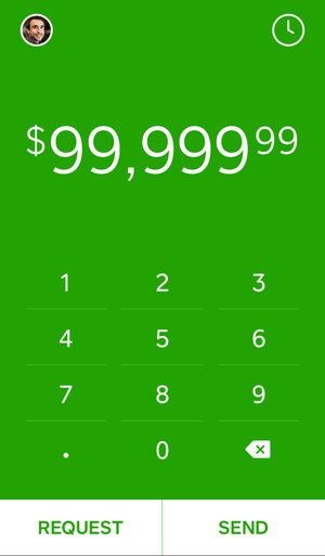 Requesting $99,999.99