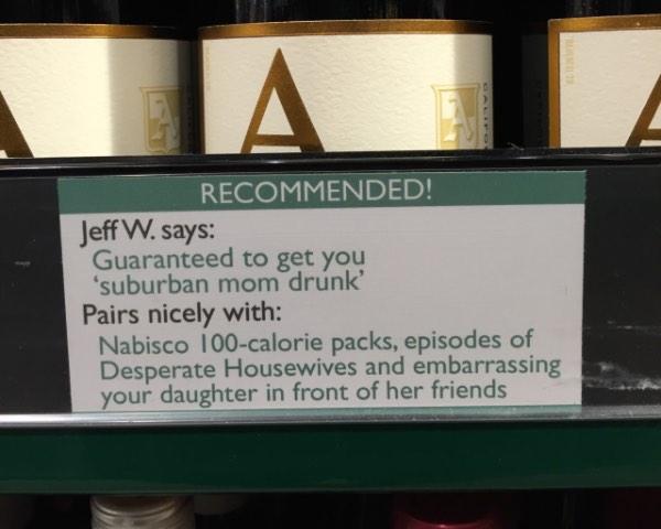 Guaranteed to get you 'suburban mom drunk'