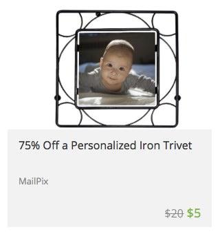 Photo on a trivet