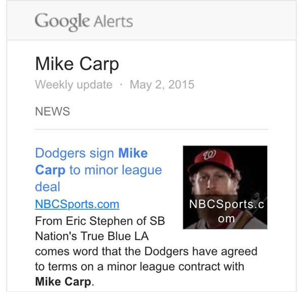 Mike Carp signs with Dodgers