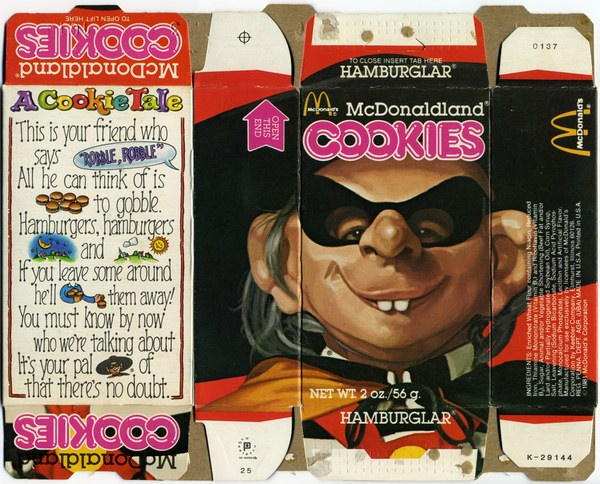 Old Hamburglar Cookie Box
