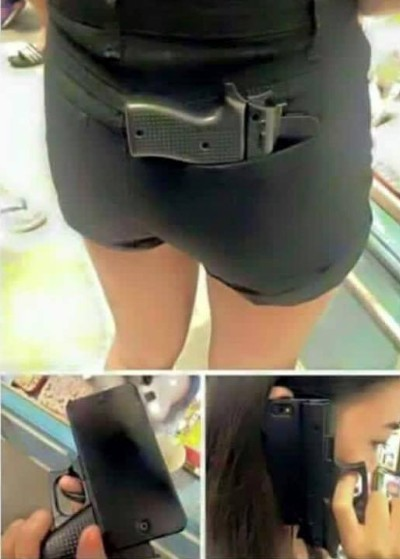 Tremendously stupid cell phone case