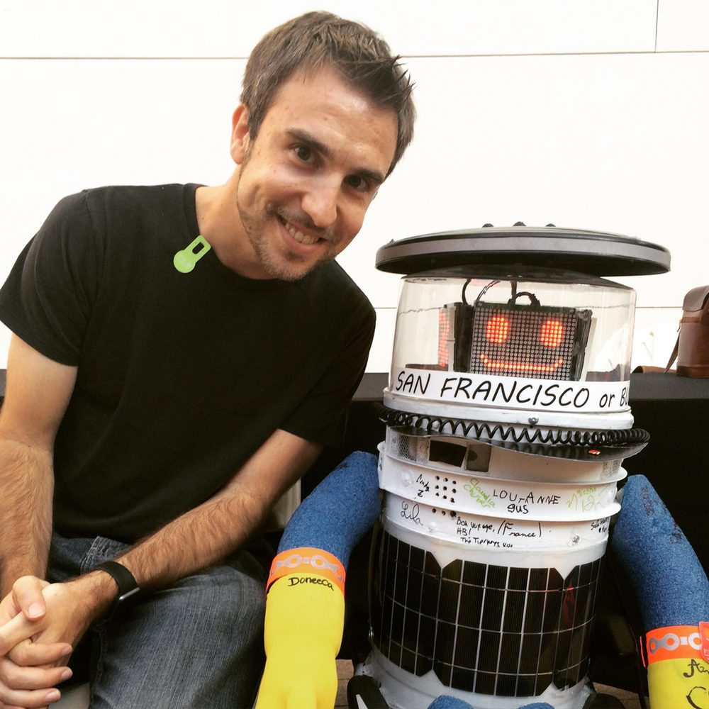 hitchBOT and Paul, Hanging Out