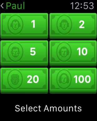 The Apple Watch Square Cash app