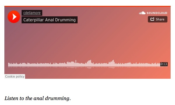 Instructions to listen to the anal drumming